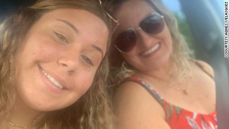 Florida mother Agnes Velasquez has been living in her teen daughter Paulina's ICU room for days, praying she survives Covid-19.