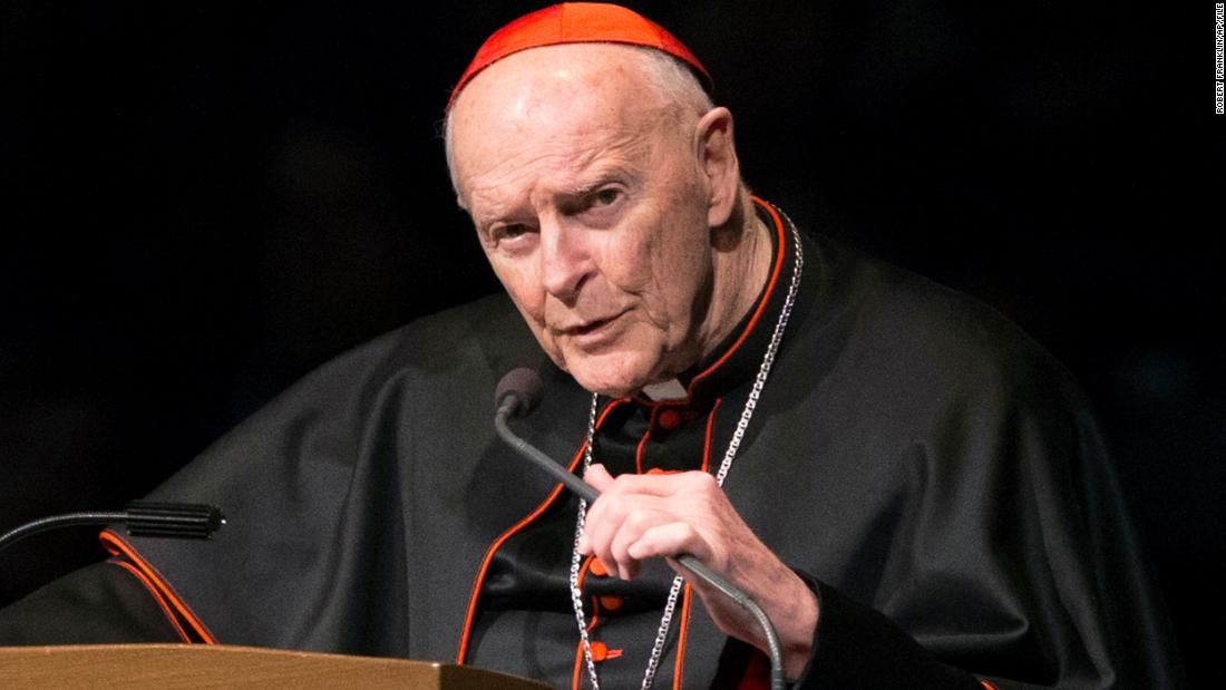 Former Cardinal Theodore McCarrick criminally charged for alleged sex abuse of a minor nearly 50 years ago