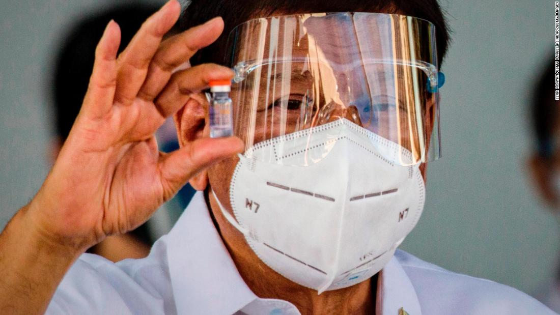 Philippine president's shocking warning to vaccine deniers