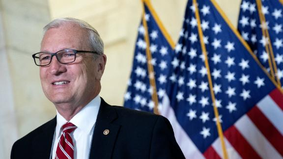 WASHINGTON, DC - APRIL 13: U.S. Sen. Kevin Cramer (R-ND) speaks to reporters prior to the Senate Republican luncheons at the Russell Senate Office Building on Capitol Hill on April 13, 2021 in Washington, DC. Senate Republicans criticized U.S. President Joe Biden's plan to remove all troops from Afghanistan by September 11, which has been delayed from its initial deadline of May 1. (Photo by Stefani Reynolds/Getty Images)