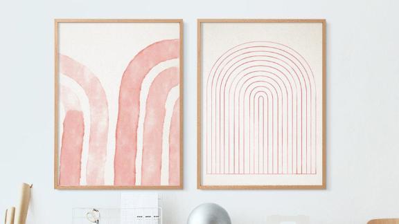FornStudio Downloadable Geometric Prints, Set of 2