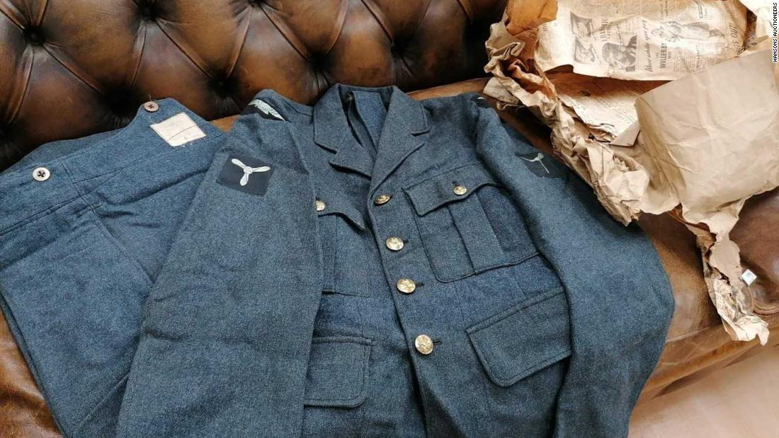 World War II pilot's uniform found preserved in 70-year-old 'mystery' parcel