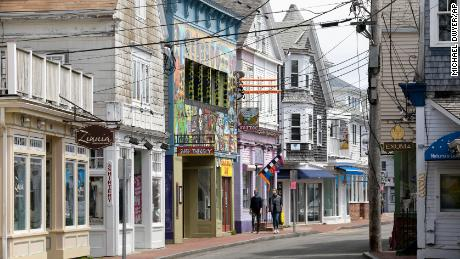 Dalam laporan baru, CDC membagikan rincian wabah Covid-19 di sekitar Provincetown, Massachusetts, yang ditampilkan di sini pada tahun 2020.