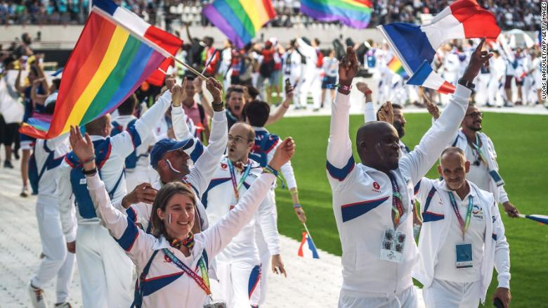 Tom Waddell, an athlete in the 1968 Olympics, created the Gay Games first held in 1982 to celebrate LGBTQ inclusion. The next Gay Games are scheduled for 2022 in Hong Kong. Picture above is the 2018 Gay Games opening ceremony in Paris.
