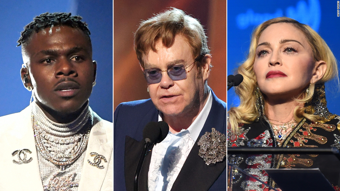 DaBaby comments spark backlash from Elton John, Madonna and other celebs