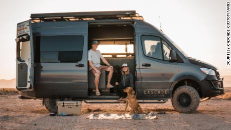 Bryan Walker and Alexa Owens founded Cascade Custom Vans right before the pandemic. They own their own van still and use their free time to travel.