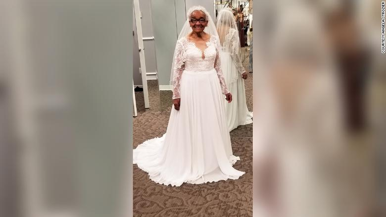 Racism stopped her from trying on a wedding dress. Seventy years later, her dream came true