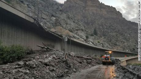 More than 100 motorists were stranded after a mudslide onto an interstate in Colorado