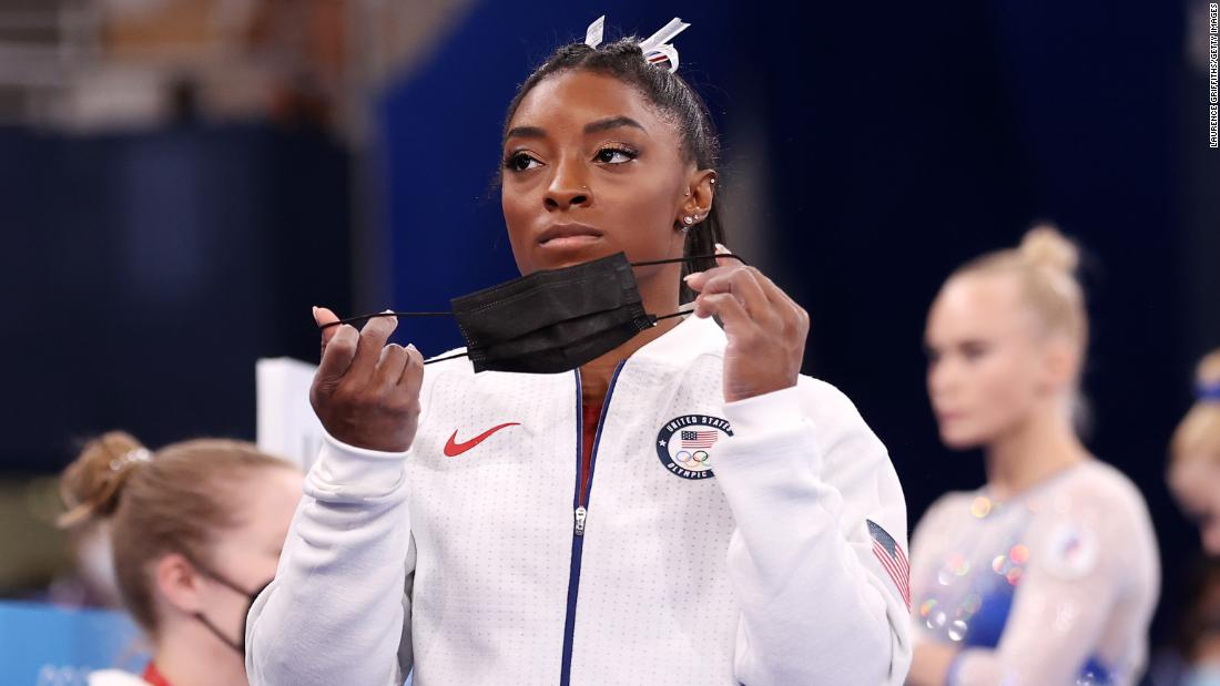Gymnastics superstar Simone Biles withdraws from vault and uneven bars finals at Tokyo Olympics