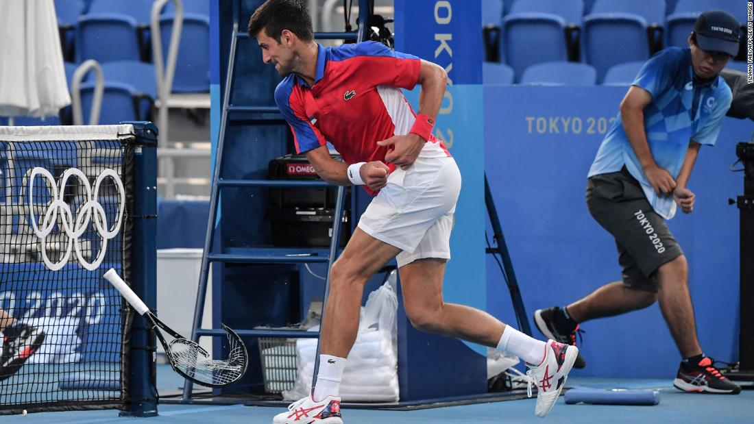 Djokovic ends Tokyo 2020 without a singles medal