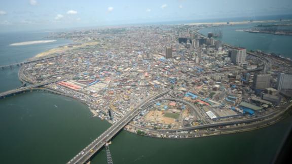 Una vista aérea de la isla de Lagos en Lagos, la capital comercial de Nigeria, en abril de 2016.
