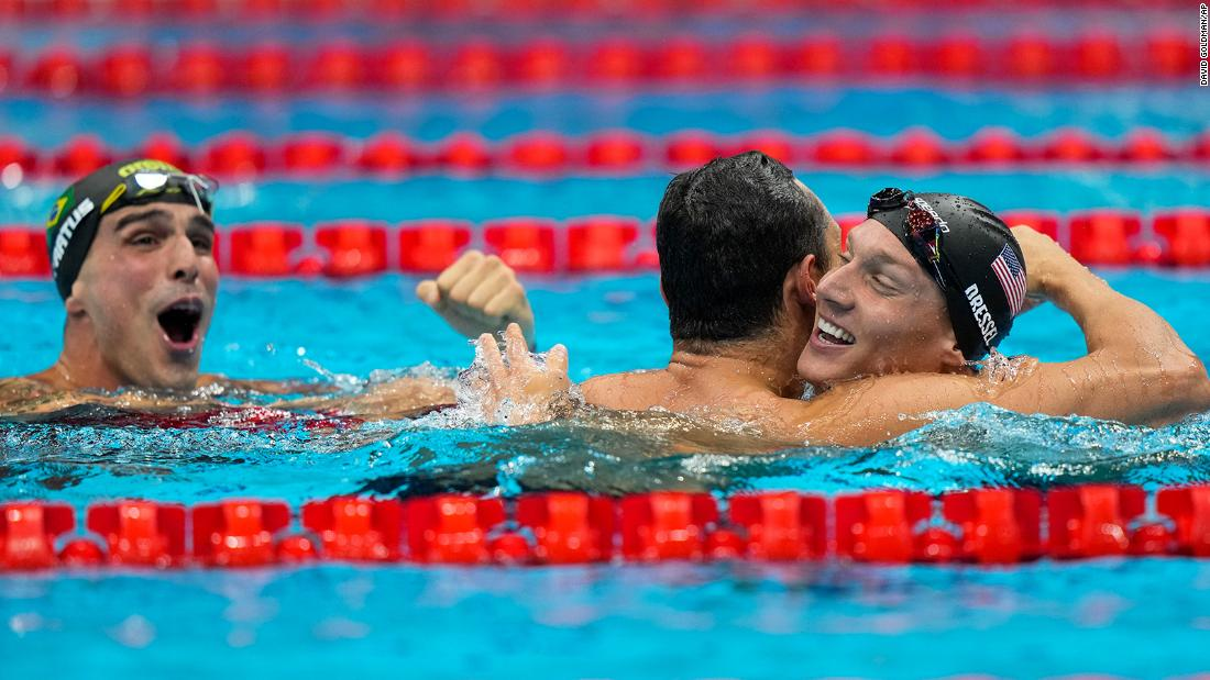 Olympic swimming ends with historic win for Team USA