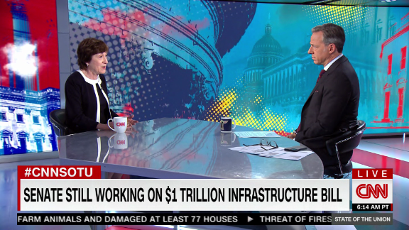 Image for Sen. Susan Collins: I expect infrastructure deal will pass this week