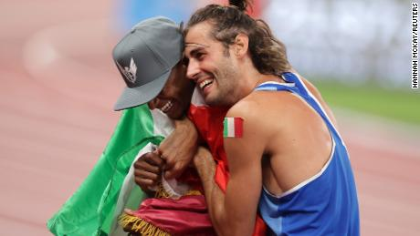 Olympics double gold: Why Italy's Gianmarco Tamberi and Qatar's Mutaz Essa  Barshim decided to share a gold medal - CNN Video