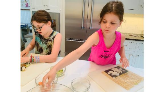 Meal kits, including sushi kits, can help get kids comfortable with ingredient measurements and recipe instructions.