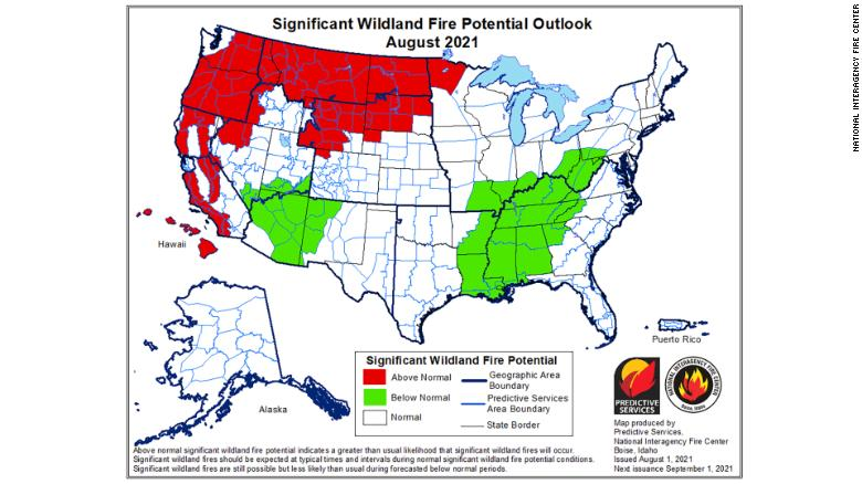This above-average wildfire season is predicted to continue through September — or maybe longer
