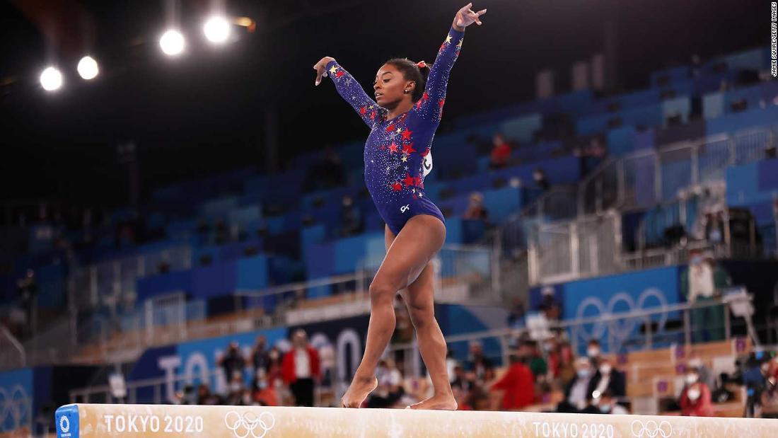 Simone Biles to take part in balance beam final