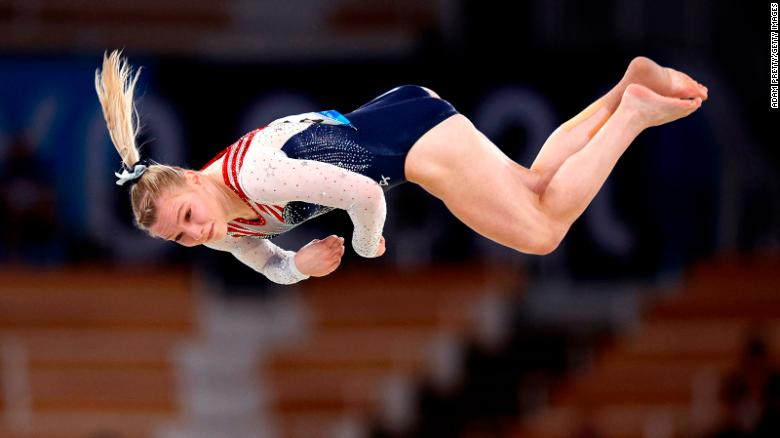 Jade Carey: Gold medal winner says Simone Biles told her to go and 'kill floor'