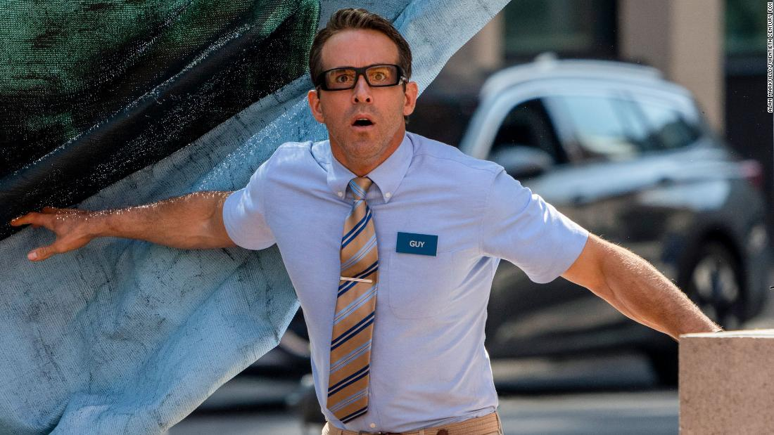 'Free Guy' lets Ryan Reynolds run up the score in a video-game action comedy