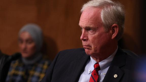 WASHINGTON, DC - JUNE 22:  U.S. Sen. Ron Johnson (R-WI) listens during a hearing on consideration of statehood for the District of Columbia in the Senate Homeland Security and Governmental Affairs Committee on June 22, 2021 in Washington, DC. The hearing is only the second time that the Senate has heard testimony on the issue of granting statehood to the district.  (Photo by Anna Moneymaker/Getty Images)