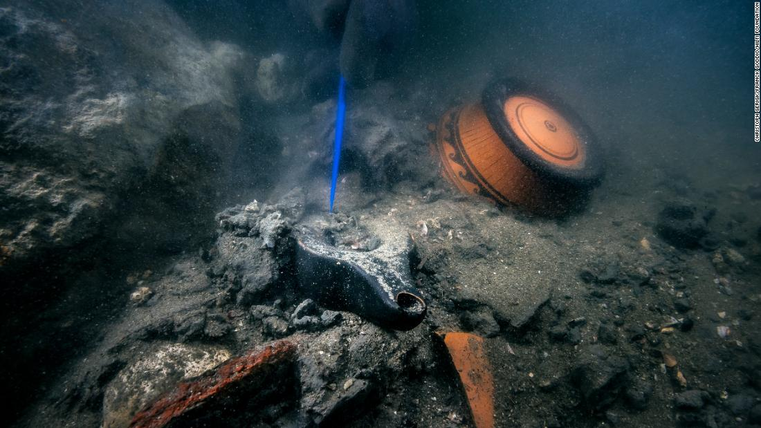 'Treasures' including 2,400-year-old fruit discovered at sunken ancient city
