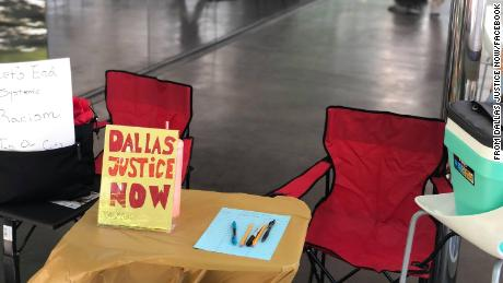 An image posted on Dallas Justice Now's Facebook page in June.