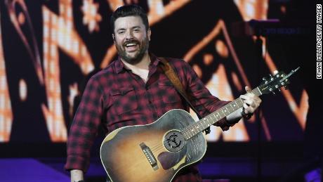 """Chris Young performs during the """"Raised on Country World Tour 2019"""" at MGM Grand Garden Arena in Las Vegas, August 17, 2019."""