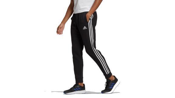 Essentials Fleece Tapered Cuff 3-Stripes Pants