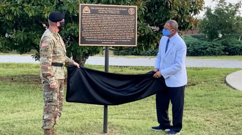 Army unveils memorial to a Black soldier lynched on military base 80 years ago