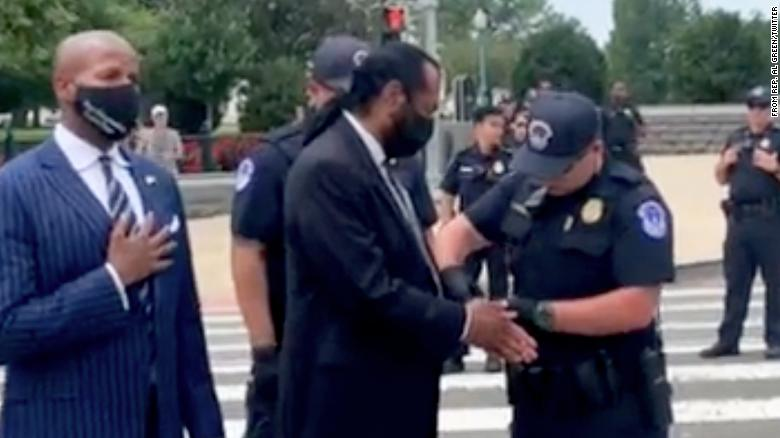 'This is pretty important, this right to vote': Democratic Rep. Al Green arrested in protest to protect voting rights in DC