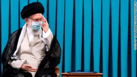 Khamenei at an endorsement ceremony to give his official seal of approval to Raisi on August 3.
