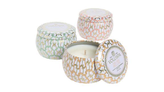 Volupsa Maison Blanc Mini Tin Candle Trio
