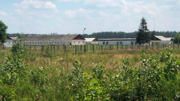 An apparent prison camp an hour's drive from the Belarusian capital Minsk, filmed and provided to CNN by activists.