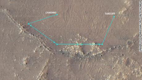 تُظهر هذه الصورة مسار الرحلة العاشر المعقد للبراعة من 24 يوليو.