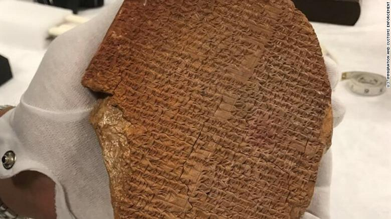 US formally returns ancient artifact purchased by Hobby Lobby to Iraq