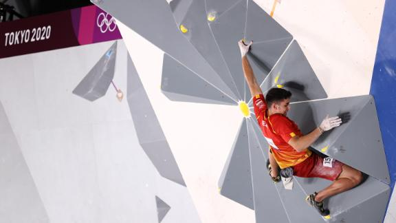 Ginés competes in the men's combined final at the Tokyo Olympics.