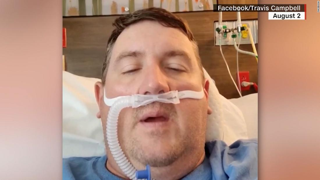 Unvaccinated man shares heartbreaking video diary from ICU