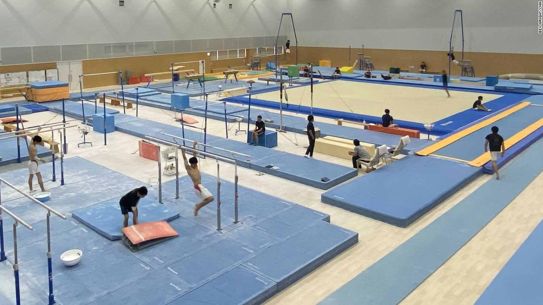 Go inside Simone Biles' 'secret gym' in Tokyo