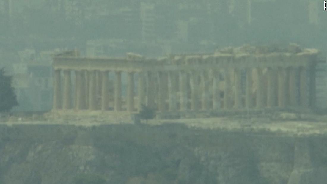 Extreme fires tear through Greece near historic sites