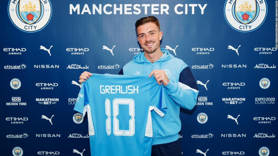 Jack Grealish signs record deal with Manchester City