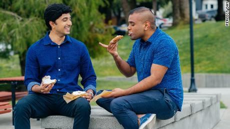 Chemical and biological engineer Ryan Pandya (left) and biomedical engineer Perumal Gandhi (right) founded Perfect Day in 2014.