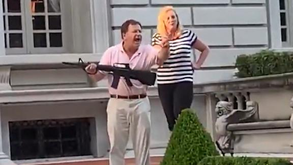Image for St. Louis couple who pointed guns at protesters pardoned by governor