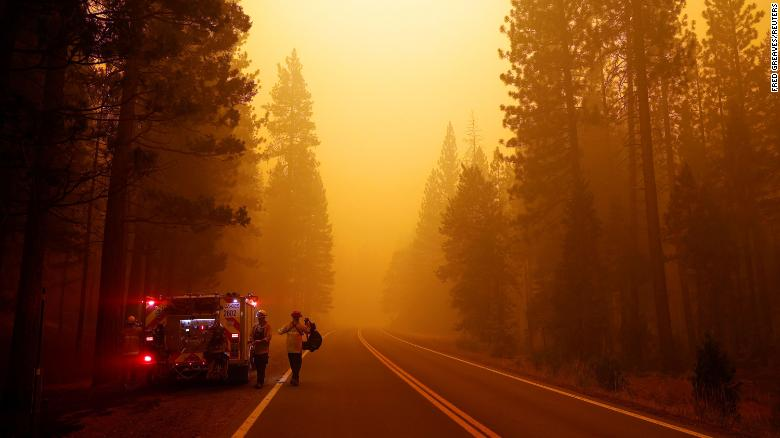 Residents in part of Northern California warned to stay indoors due to smoke from massive wildfires