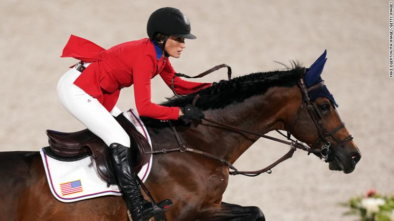 Jessica Springsteen, Bruce Springsteen's daughter, wins silver medal in equestrian team jumping final