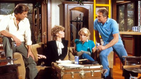 """Douglas Barr, Markie Post, Heather Thomas and Lee Majors star in """"The Fall Guy."""""""