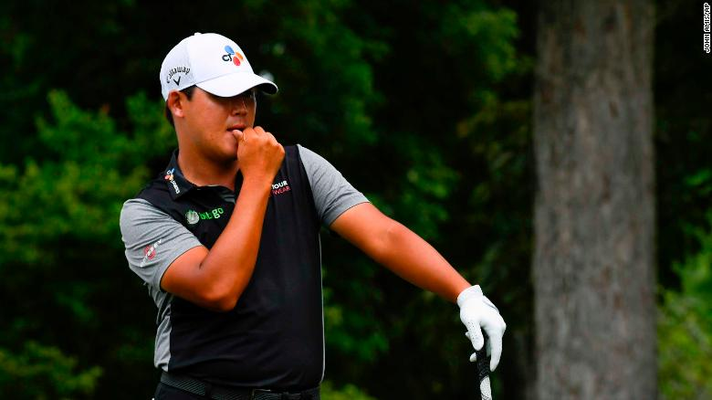 Golfer Kim Si Woo finds water five times on one hole to set unwanted landmark PGA Tour score