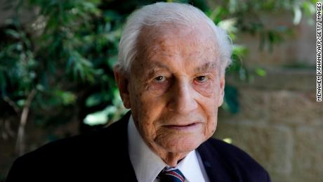 Gabriel Bach, 94, a former deputy prosecutor in the trial of Adolf Eichmann, poses for a picture during an interview in May 1, 2020.