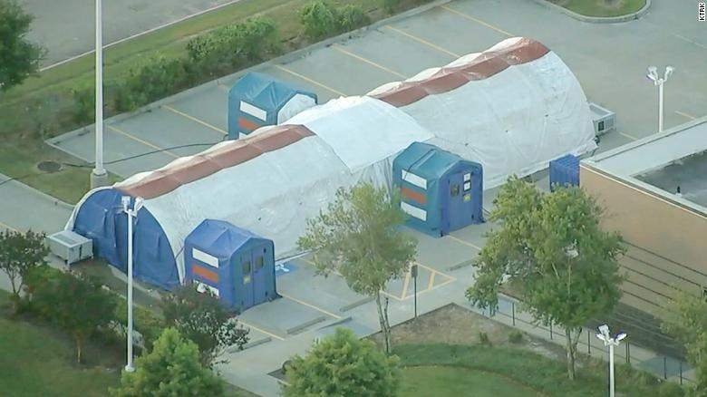 Texas hospital system is prepping tents to deal with rapid surge in Covid-19 patients