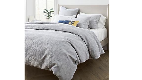 Silky Tencel & Cotton Ikat Matelasse Duvet Cover & Shams Set