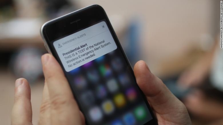 A nationwide emergency alerts test is the reason you might be hearing alarms coming from your phone or TV